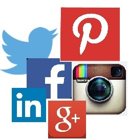 sociale media webshop facebook twitter linkedin google instagram pinterest